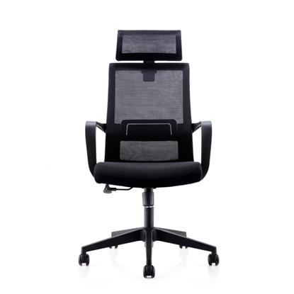 Picture of RFG Smart HB Director s Chair, mesh and upholstery, black seat, black back