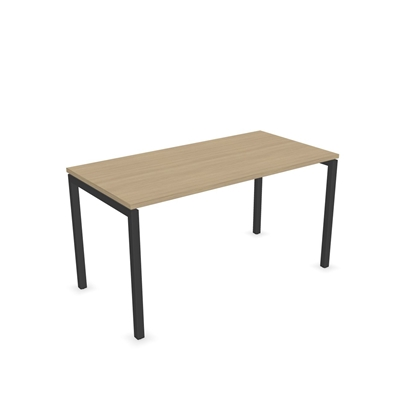 Picture of Narbutas Desk Nova U, 1400x700x740 mm, bleached oak melamine, dark grey metal, leg type U