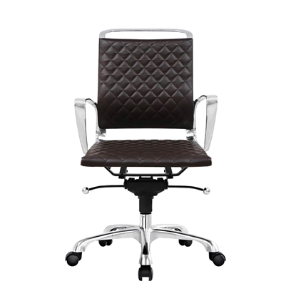 Picture of RFG Ell W Office Chair, eco-leather, brown seat , brown back