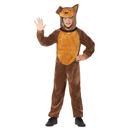 Picture of Brown plush dog costume, size M
