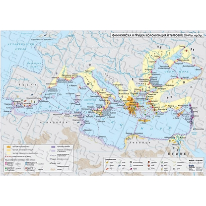 Picture of Map Phoenician and Greek colonization and trade