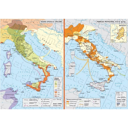 Picture of Map Early Age in Italy, Roman Republic III - II BC