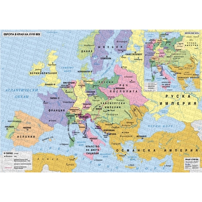 Picture of Map of Europe in the late eighteenth century, Inset Europe around 1815