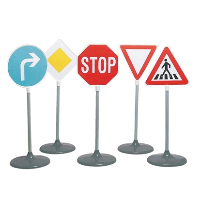 Picture of Set 10 road signs for road traffic safety model, 130 cm