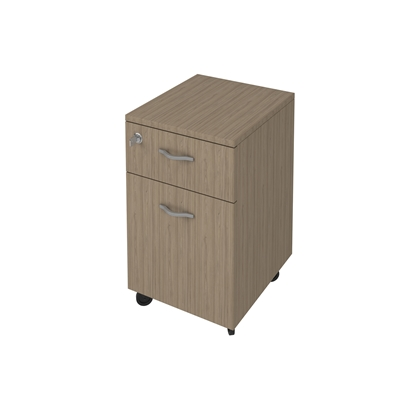 Picture of K10 Container with 1 drawer and door, 41 x 50 x 60 cm, ash