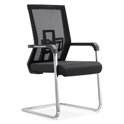 Picture of RFG Lucca M Visitor Chair, mesh and upholstery, black seat, black back