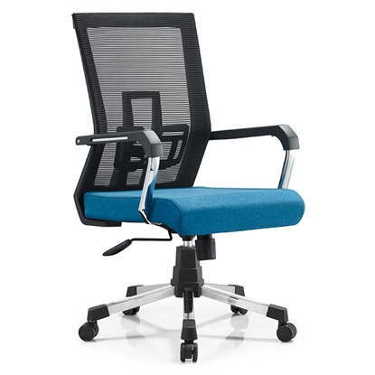 Picture of RFG Lucca W Office Chair, mesh and upholstery, blue seat , black back