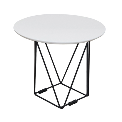 Picture of RFG Erika H Low Table, 52 x 52 x 42 cm, white top, black metal legs