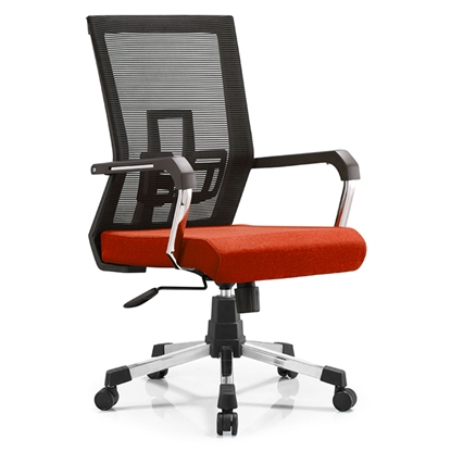 Picture of RFG Lucca W Office Chair, mesh and upholstery, red seat , black back