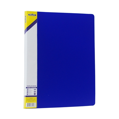 Picture of Office 1 Superstore Display Book with 40 pockets, removable label, blue