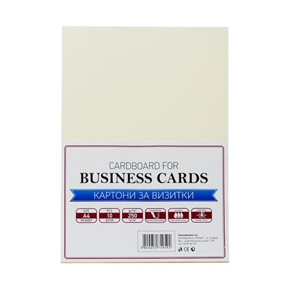 Picture of Top Cardboard for business cards, А4, 250 g/m2, cream , 10 sheets