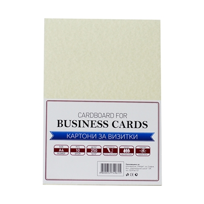 Picture of Top Cardboard for business cards, А4, 250 g/m2, parchment, 10 sheets