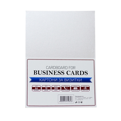 Picture of Top Cardboard for business cards, А4, 300 g/m2, light grey, 10 sheets