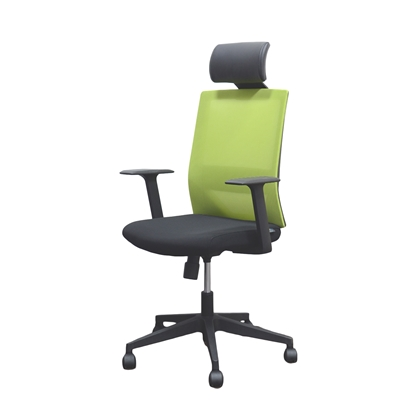Picture of RFG Berry HB Director s Chair, mesh and upholstery, black seat, green back