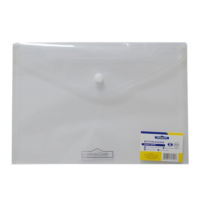 Picture of Office 1 Superstore PP File Bag with button, A5, transparent