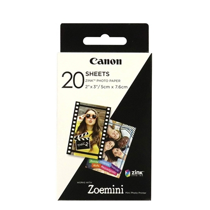 Picture of Canon photopaper Zink, 5 x 7.6 cm, 20 sheets