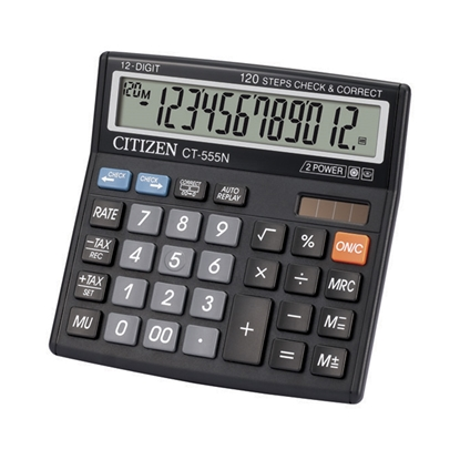 Picture of Citizen Desk calculator CT-555 N, 12-digit, black