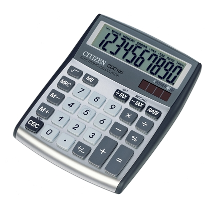 Picture of Citizen Desk calculator CDC 80 WB, 8-digit, grey
