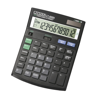 Picture of Citizen Desk calculator CT-666N, 12-digit, black