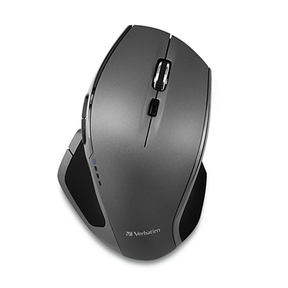 Picture of Verbtaim Blue Led Mouse, ergonomic, cordless, with 8 buttons