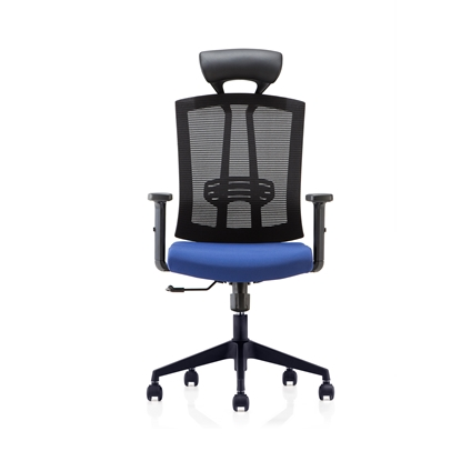 Picture of RFG Brixen HB Director s Chair, mesh and upholstery, dark blue seat , black back
