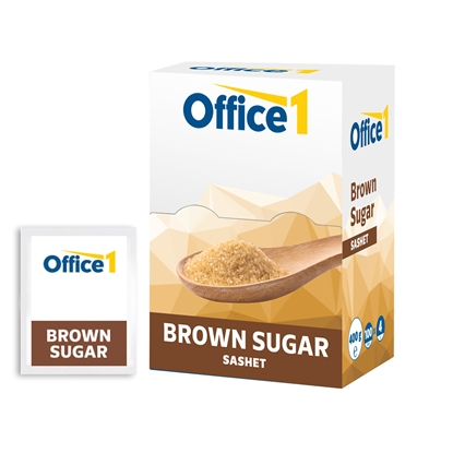 Picture of Office 1 Superstore Brown sugar, 4 g, 100 pcs.