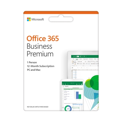 Picture of Microsoft Office 365, Bus Prem Retail English EuroZone, 1 year Medialess