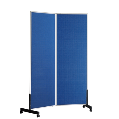 Picture of Top Office Felt board, 100 x 180 cm, with two wings, mobile, on wheels, blue