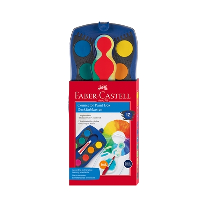 Picture of Faber-Castell Watercolor paints Connector, 12 colors, with Brush