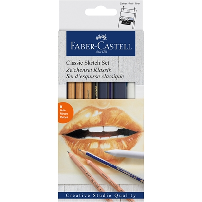Picture of Faber-Castell Set Sketch, with pencils, 6 pcs.