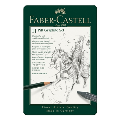 Picture of Faber-Castell Set Pencils Pitt Graphite, 11 pcs. in a metal box