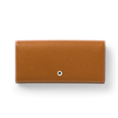 Picture of Graf von Faber-Castell wallet Epsom, ladies, with button, leather, cognac