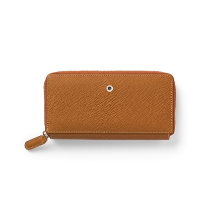 Picture of Graf von Faber-Castell wallet Epsom, ladies, with zipper, leather, cognac