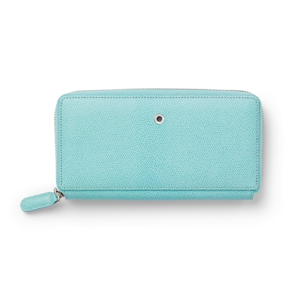 Picture of Graf von Faber-Castell wallet Epsom, ladies, with zipper, leather, turquoise