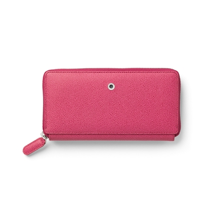 Picture of Graf von Faber-Castell wallet Epsom, ladies, with zipper, leather, electricpink