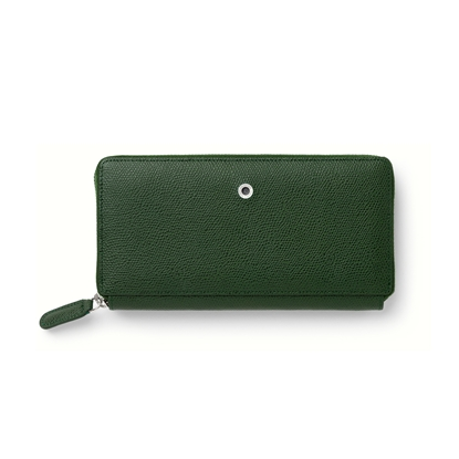 Picture of Graf von Faber-Castell wallet Epsom, ladies, with zipper, leather, olivegreen
