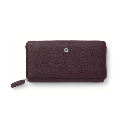 Picture of Graf von Faber-Castell wallet Epsom, ladies, with zipper, leather, violetblue
