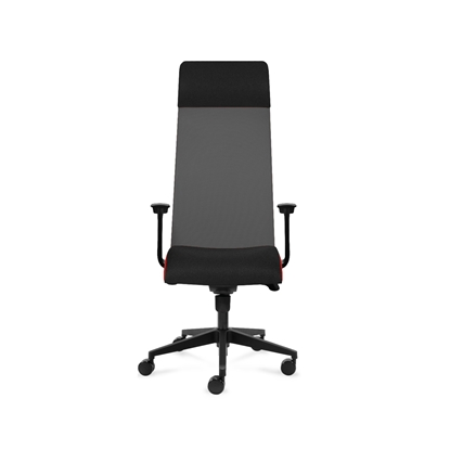 Picture of Tronhill Ergonomic chair Solium Executive, upholstery and mesh, dark grey