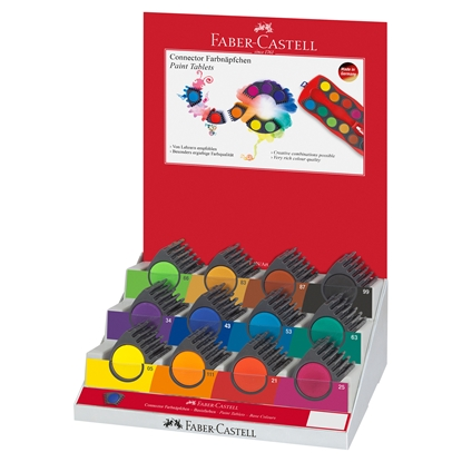 Picture of Faber-Castell watercolors Connector, 12 colors, 60 pcs in display