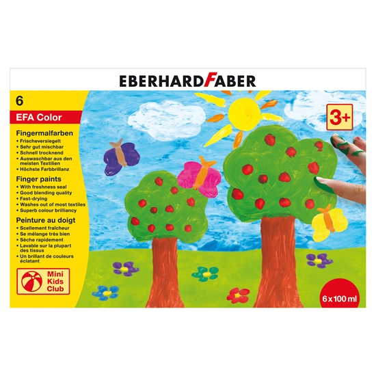 Picture of Eberhard Faber face paints, 6 colors, 100 ml