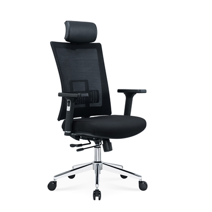 Picture of RFG Luxe HB Chrome Director s Chair, black seat , black back