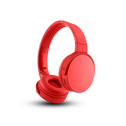 Picture of TnB Shine 2 Headphones with Bluetooth, 4 in 1, red