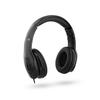 Picture of TnB On Air Headphones with integrated microphone and cable, black