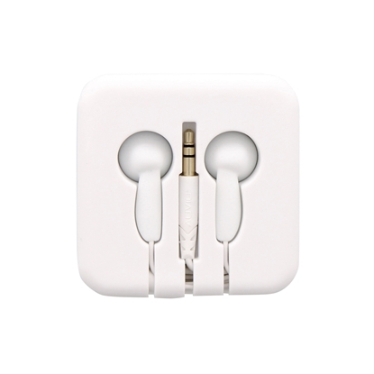 Picture of TnB Pocket Headphones, in a silicone box, white