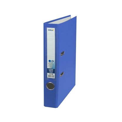 Picture of Office 1 Superstore Lever Arch File, 5 cm, PVC without metal strip, blue