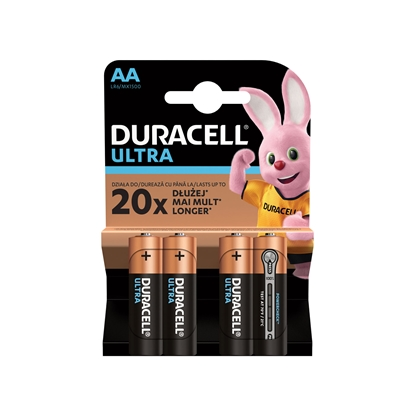 Picture of Duracell alkaline battery Turbo, AA, LR6, 1.5 V, 4 pcs