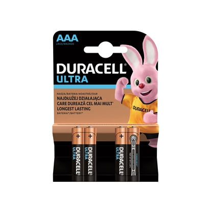 Picture of Duracell alkaline battery Turbo, AAA, LR03, 1.5 V, 4 pcs