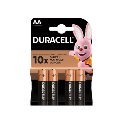 Picture of Duracell alkaline battery, AA, LR6, 1.5 V, 4 pcs