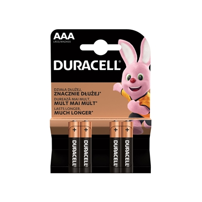 Picture of Duracell alkaline battery, AAA, LR03, 1.5 V, 4 pcs