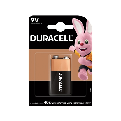Picture of Duracell alkaline battery, 6LR61, 9 V